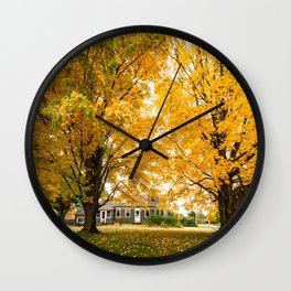 home in vermont Wall Clock