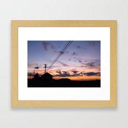 Hampton Beach Sunset Framed Art Print