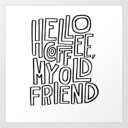 Hello Coffee Art Print