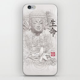 Find Your Bliss {Black & White} Buddha Art Print iPhone Skin
