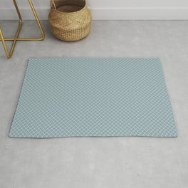 White & Pale Blue Angled Grid Line Pattern Pairs To 2020 Color of the Year Good Jeans Rug