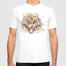 Tatewari Ute'a Tiger MEDIUM Mens Fitted Tee White