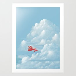Porco Rosso flying Art Print