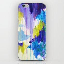 WINTER DREAMING - Jewel Tone Colorful Eggplant Plum Periwinkle Purple Chevron Ikat Abstract Painting iPhone Skin