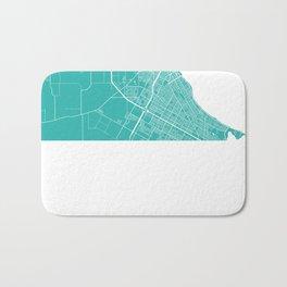 Corpus Christi map turquoise Bath Mat