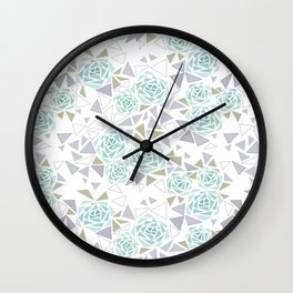 Modern . Geometric pattern . Rose .2 Wall Clock