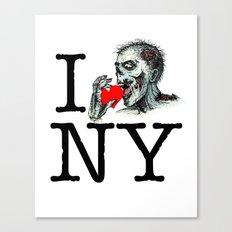 I Zombie Apocalypse New York Canvas Print