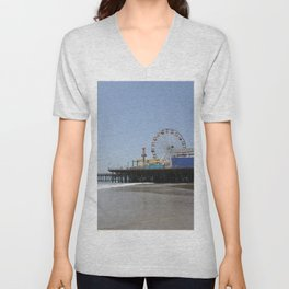 Santa Monica Pier Unisex V-Neck