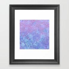Frozen Leaves 3 Framed Art Print