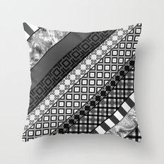 Black / white patchwork Throw Pillow