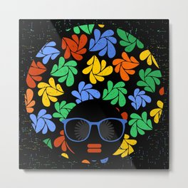 Afro Diva : Colorful Metal Print