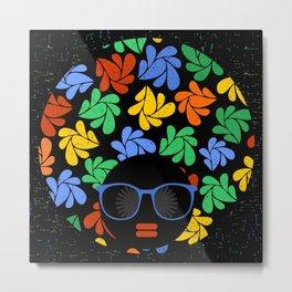 Afro Diva : Colorful Metal Print