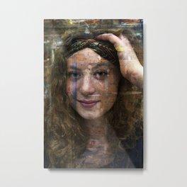 Laura, Zen Portrait Metal Print