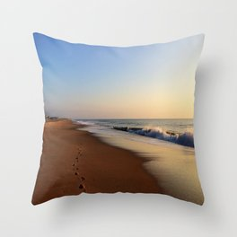 Please Only Leave Footprints Throw Pillow