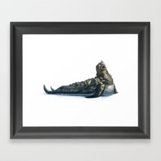 Colossal Sea Beast Framed Art Print