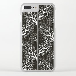 Winter, black and white Clear iPhone Case