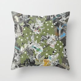 Aperture Science: All science, all the time Throw Pillow