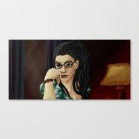cosima Canvas Prints featuring cosima by lulu555