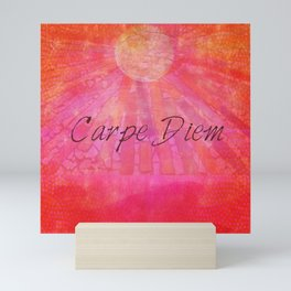 Carpe Diem quote Mini Art Print