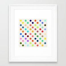 Polka Proton Framed Art Print