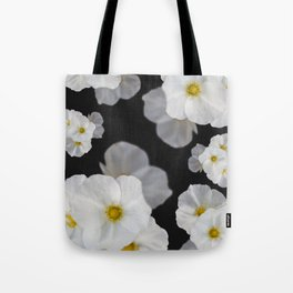 White blossom flower in pattern Tote Bag