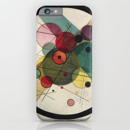 Wassily Kandinsky - Circles in a circle iPhone Case