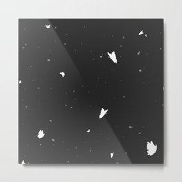 Butterflies and Polka Dots Metal Print