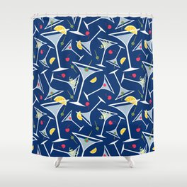 Blue Martinis Shower Curtain
