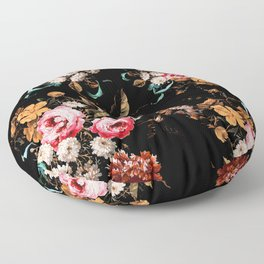 Midnight Garden IV Floor Pillow