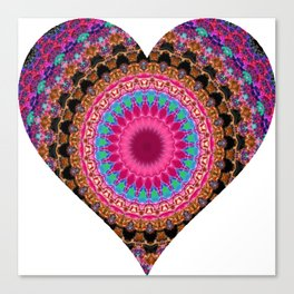 XL Valentine's Heart 4 Canvas Print
