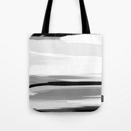 Soft Determination Black & White Tote Bag