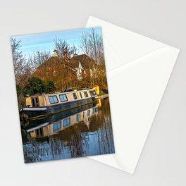 Moorings Above Aldermaston Lock Stationery Cards
