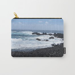 Black and Blue Earth Carry-All Pouch