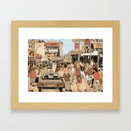 Tel Aviv Central Bus Station in The 1980s Framed Art Print