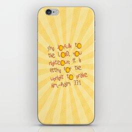 Sing Joyfully! iPhone Skin