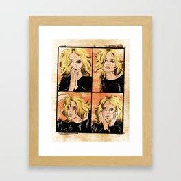 About a Girl Framed Art Print