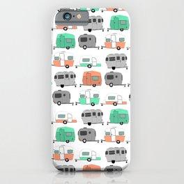 Vintage caravan pattern iPhone Case