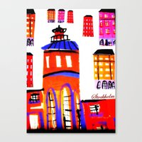 stockholm Canvas Prints featuring Stockholm by Jokannan
