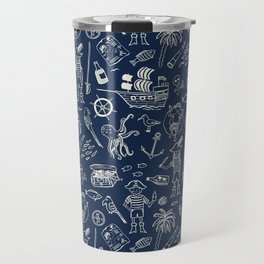 Pirate Play - Blue Travel Mug