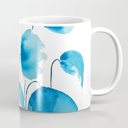 blue poppy field watercolor Coffee Mug
