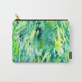 Jungle green watercolor Carry-All Pouch