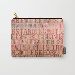 Knowledge for all , public library of edinburgh Scotland Carry-All Pouch