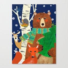 Woodland Holiday Canvas Print