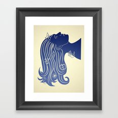 Let your hair down... Framed Art Print