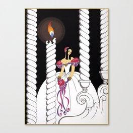 """La Traviata Opera"" Art Deco Illustration Canvas Print"