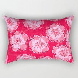 Cranberry Lace Rose Rectangular Pillow