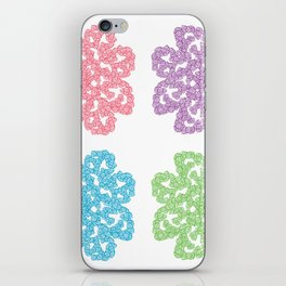 Multicolor Roses Flower Doodle iPhone Skin