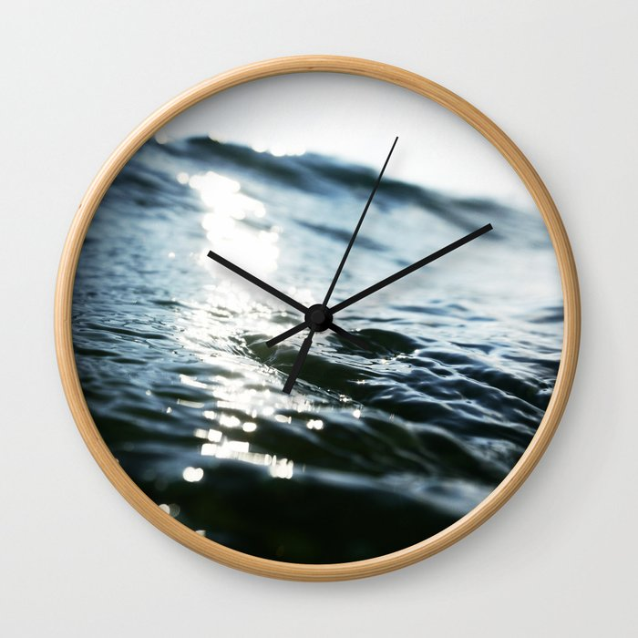 The Shimmering Swell Wall Clock