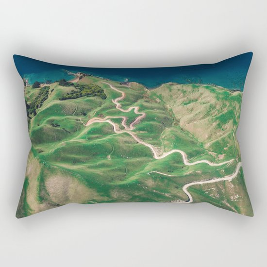 green mountain 4 Rectangular Pillow