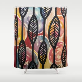 Leather Feaf Shower Curtain